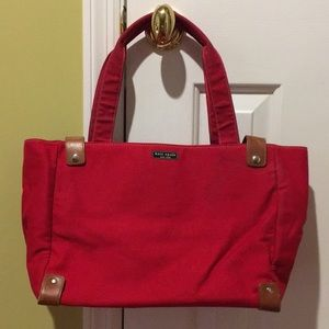 Kate spade Red canvas and leather Tote bag